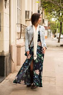 Como usar camisa jeans feminina com vestido