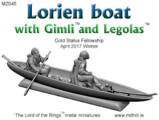 MZ645 Lorien boat with Gimli and Legolas
