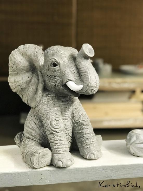 Beton Betonideen Deko Hunsrück Elefant