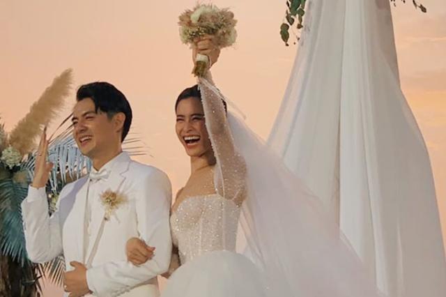 Đông Nhi Ông cao thắng hạnh phúc trong đám cưới