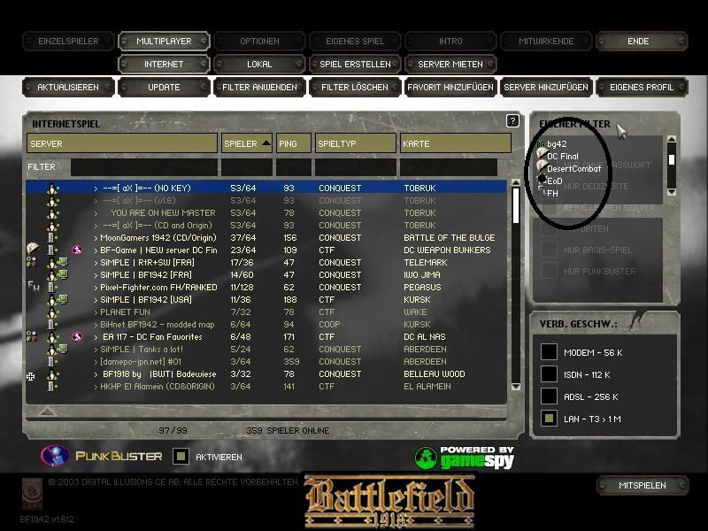 Battlefield 1942, Gamespy Browser knowledge! :: Battlefield 1942 Forum