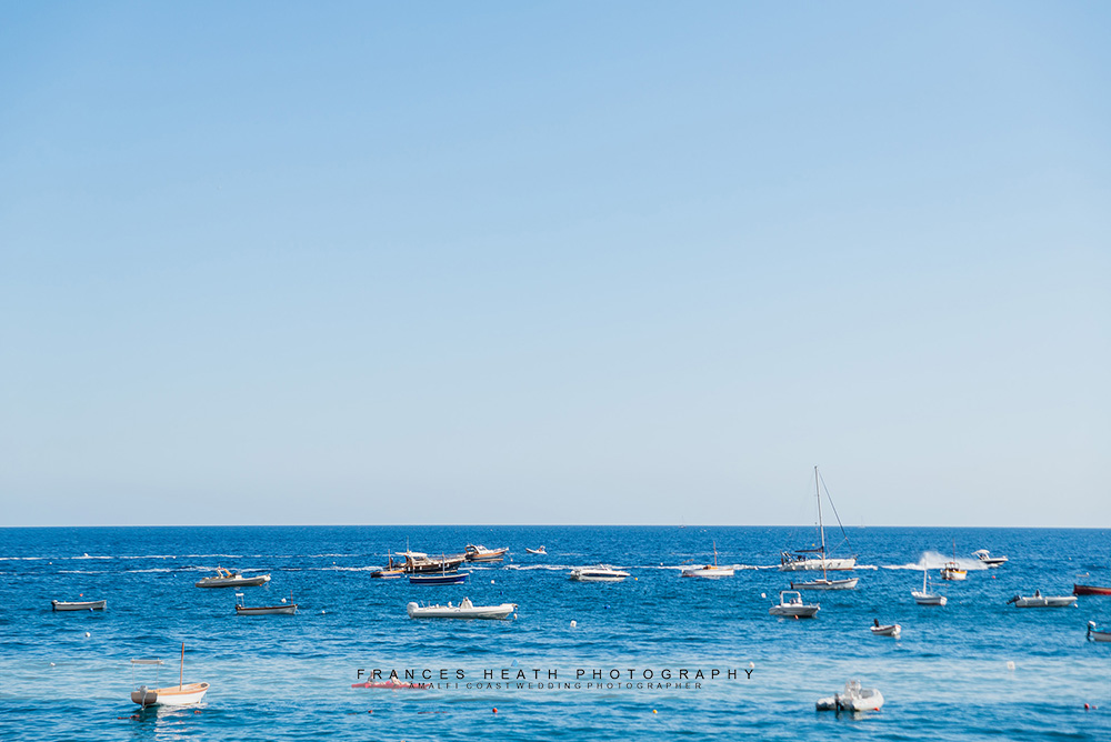 Boats on Fornillo beach