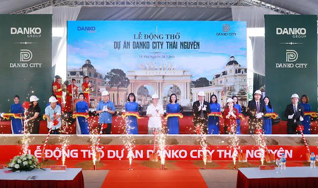 hình ảnh lễ động thổ dự án Danko city Thái Nguyên