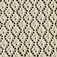 Eyelet Lace 49: Little Diamond | Knitting Stitch Patterns.