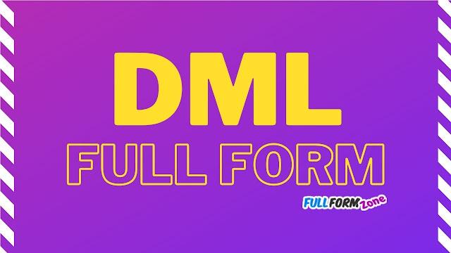 DML Full Form