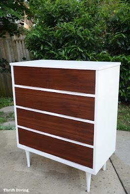 Mid Century Modern Dresser Make Over, a host favorite at Funtastic Friday!