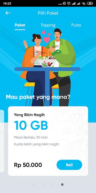 Salah satu pilihan paket data yang ditawarkan by.U, paket data by U, paket data by.U, kuota internet by.U