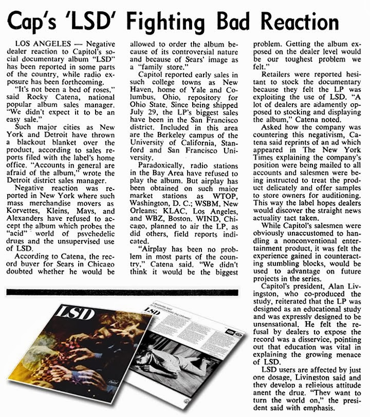 Capitol LSD Album Article, Billboard August 1966