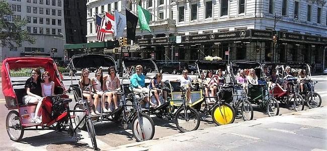 NYC Pedicab Rides -  NYC Pedicab Tours