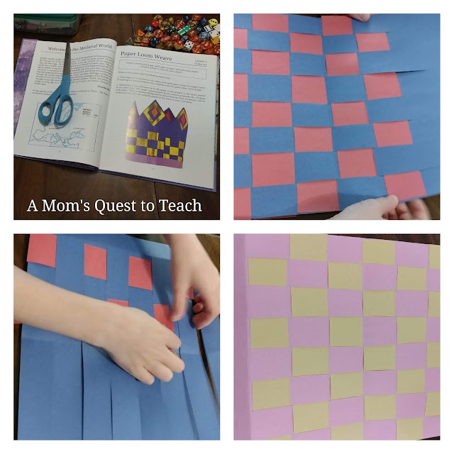 paper loom weave with construction paper