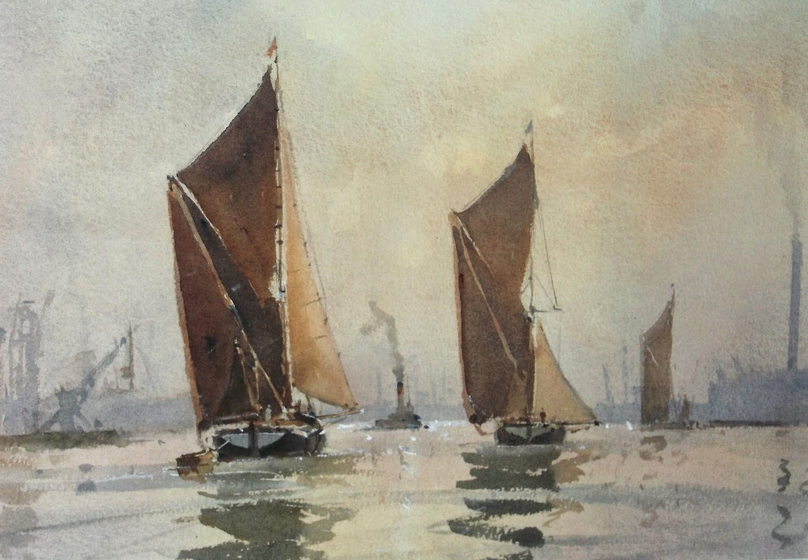 Painting by Royal Society of Marine Artists
