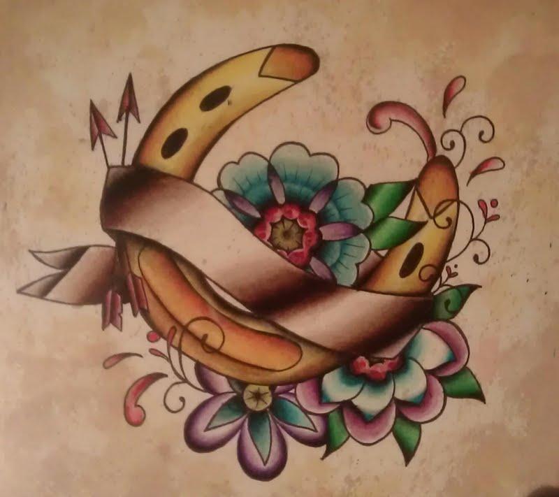 Girl Tattoos, Tattoo Ideas, Horseshoes Tattoo, Girls ...