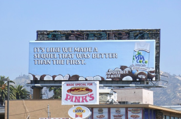 made sequel better than first Vita Coco billboard