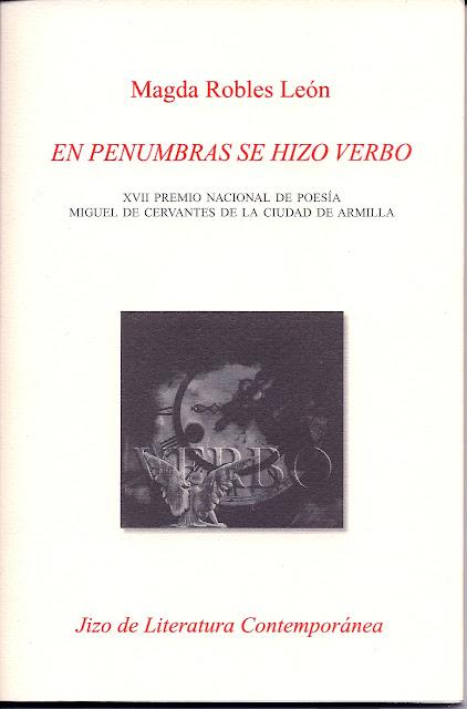 Magdalena Roblés León y su libro En penumbras se hizo verbo, Ancile.