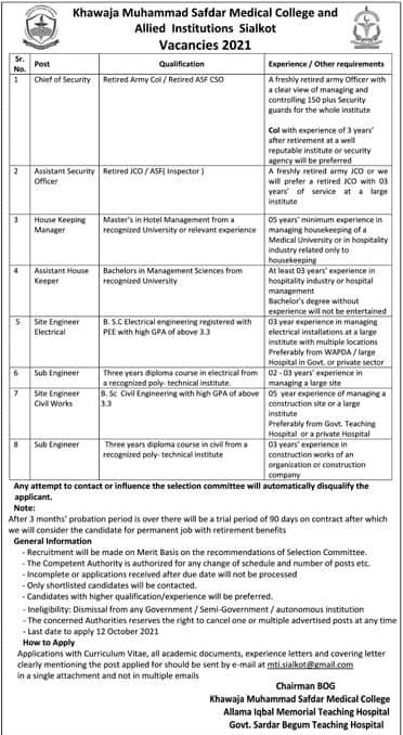 khawaja safdar medical college sialkot merit list