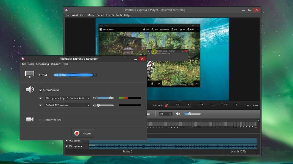 flashback grabar pantalla pc