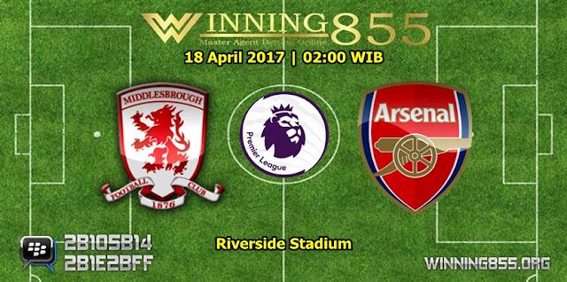 Prediksi Bola Middlesbrough vs Arsenal 18 April 2017