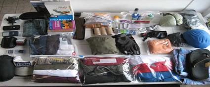 وضع الأكياس في الحقيبة