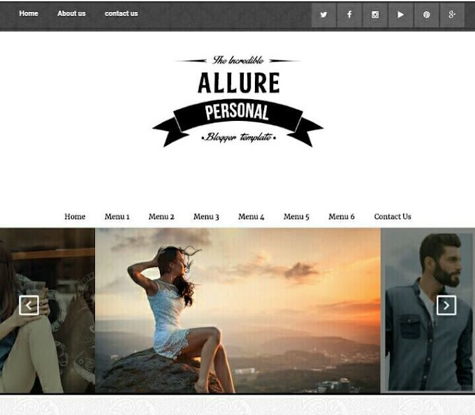 Allure SEO Ready Blogger Template Free Premium Version Download