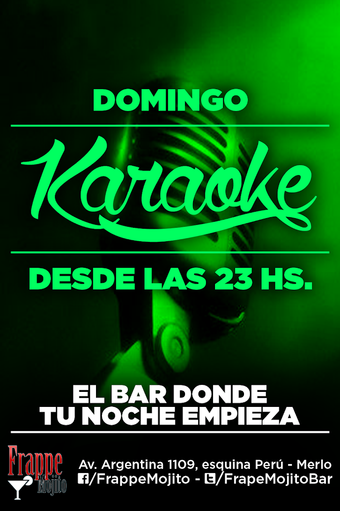 Afiches promocionales para Frappe Mojito Bar