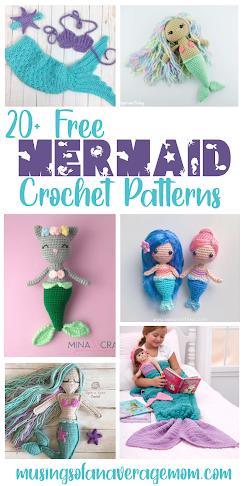 Free mermaid crochet patterns