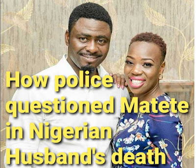 Ruth Matete questioned by police in husbands death