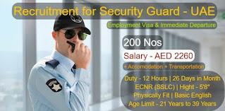 Security Guards Jobs Recruitment 2021 In Dubai, UAE