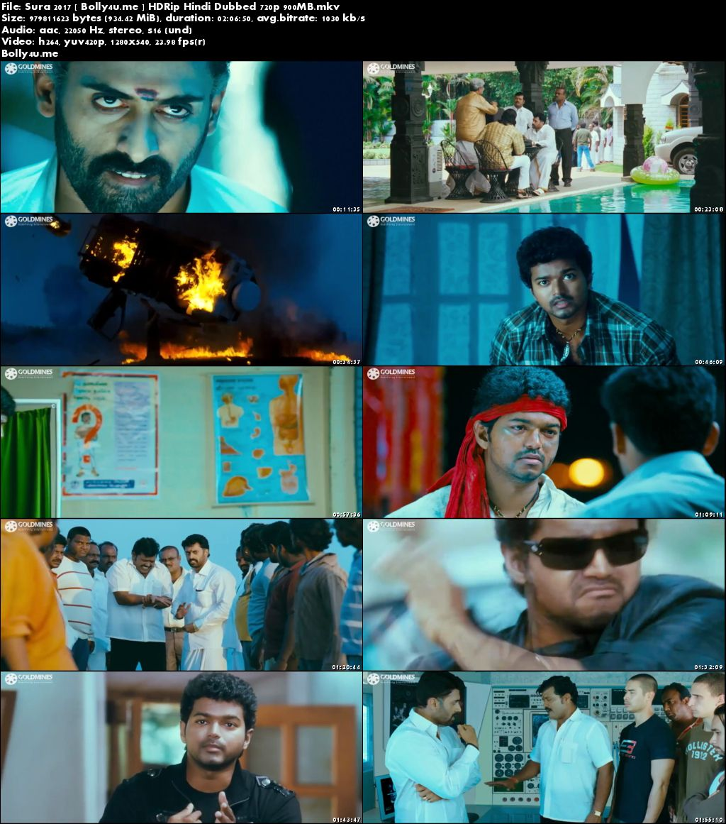 Sura 2017 HDRip 900MB Hindi Dubbed 720p Download