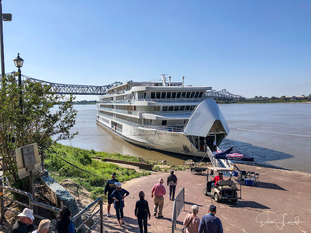 Cruise boat docked in the Natchez Under the Hill area.