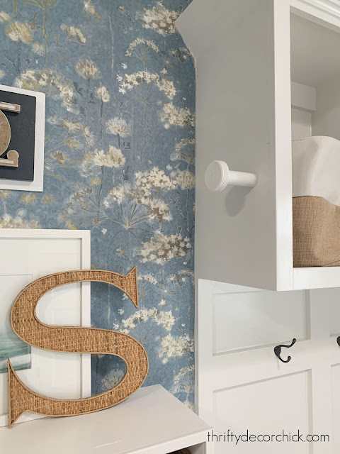 Easy DIY clothes hanger hook laundry room