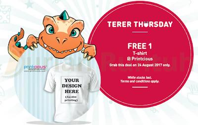 My U Mobile App Free Printcious T-shirt Terer Thursday Freebie Reward Voucher