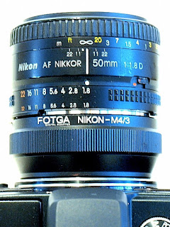 AF Nikkor 50mm 1:1.8 D, Top