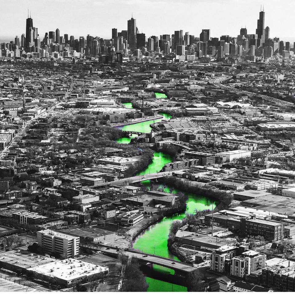 Industrial History: North Branch Of Chicago River Died Green