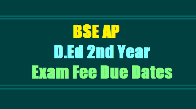 AP D.Ed 2nd Year 2015-2017 Batch Examination Fee Due Dates Notification