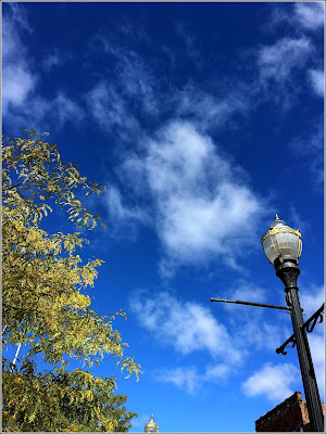 October 4, 2018 Out walking at lunch on a beautiful fall day.