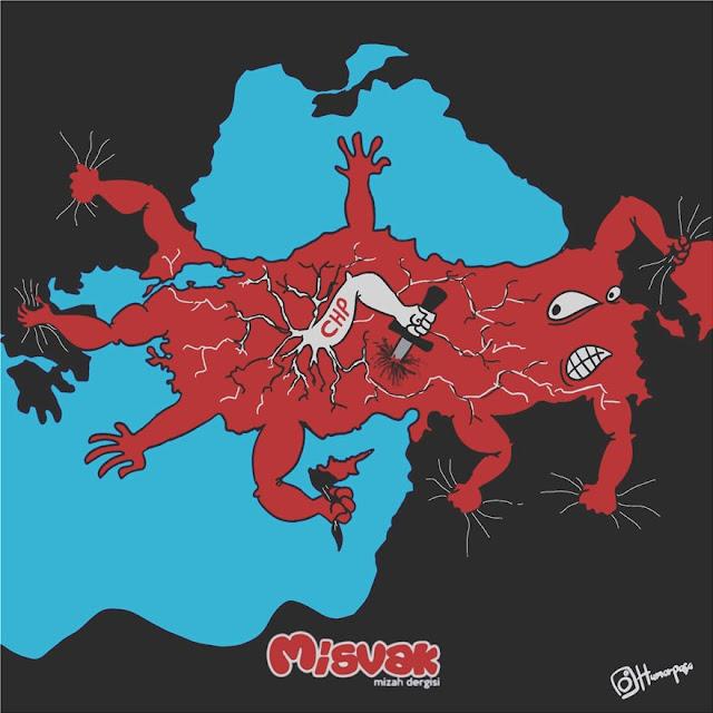 Σκίτσο του «αγώνα» του Ερντογάν με τις γειτονικές χώρες