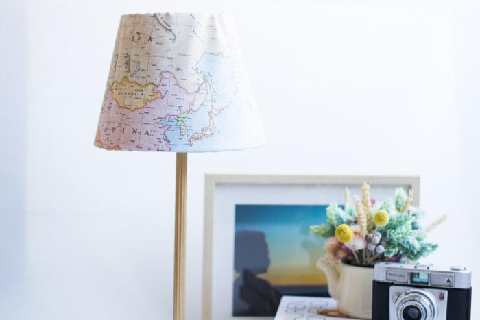 Lámpara de tela mapas