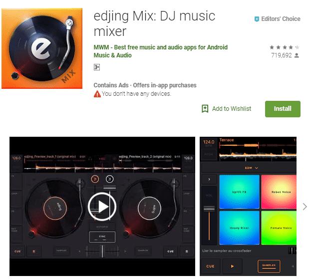 edjing Mix: DJ music mixer App Download