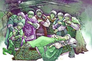 Рисунки по Сказке о мертвой царевне и семи богатырях