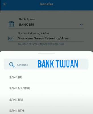 Cara transfer lewat brimo ke bank lain