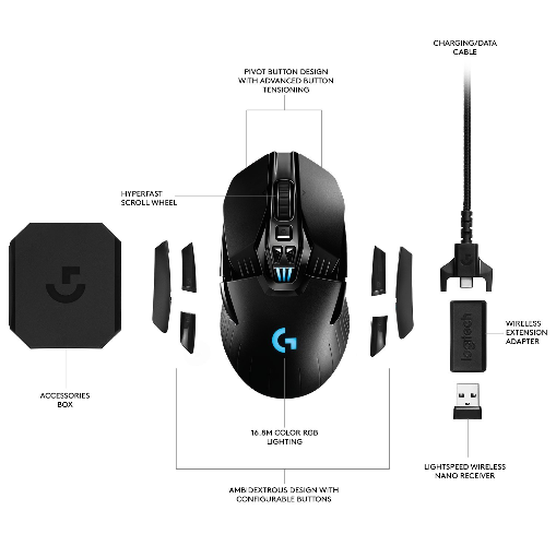 Logitech G903 wireless gaming mouse, specification & Review