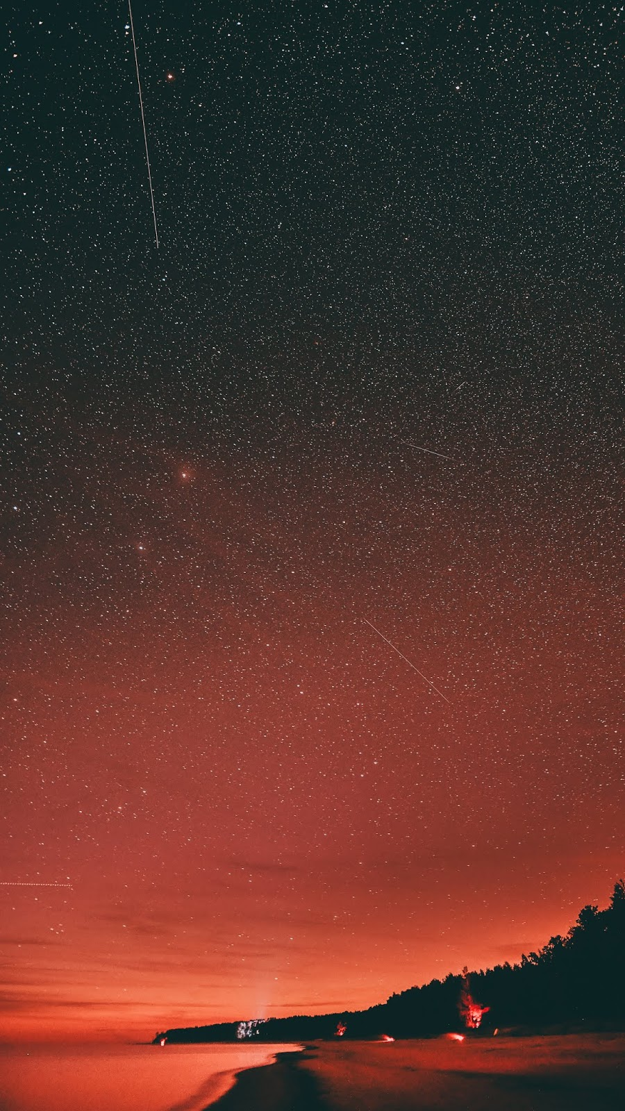 Red starry night