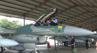 Mendarat Di lanud Iswahyudi, 4 Pesawat Tempur F-16 Siap Jaga Kedaulatan NKRI