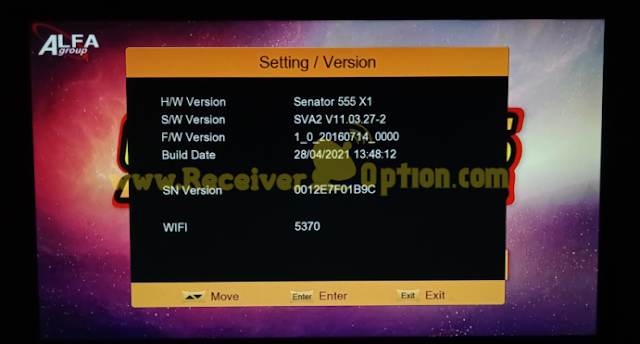SENATOR 555 X1 1506TV 512 4M NEW SOFTWARE 28 APRIL 2021
