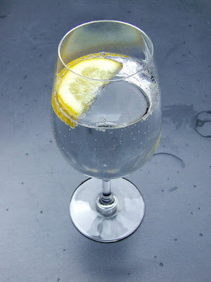 Glass of Water with a Slice of Lemon