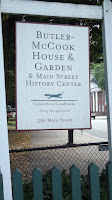 The Welcome sign - Butler-McCook House and Garden, Hartford, CT