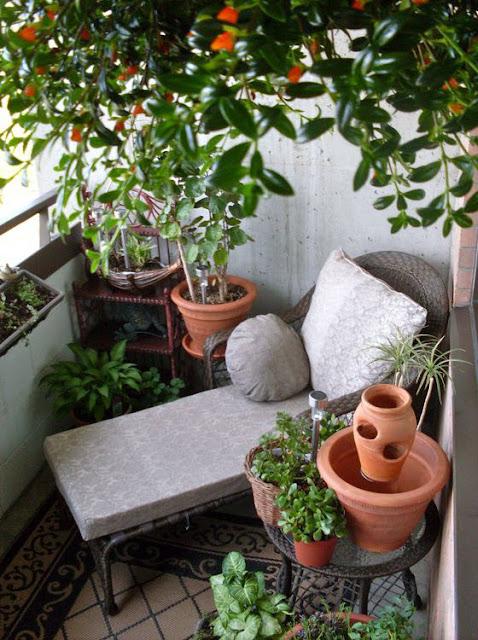 افكار لكيفية تنسيق حدائق الشرفات