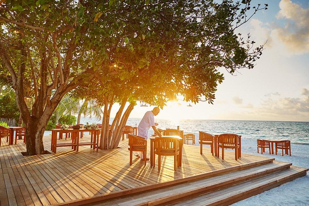 LUX* South Ari Atoll Maldives Beachside dining