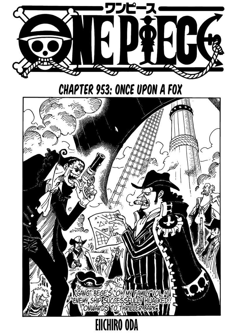 One Piece Manga Chapter 953 - Image 001