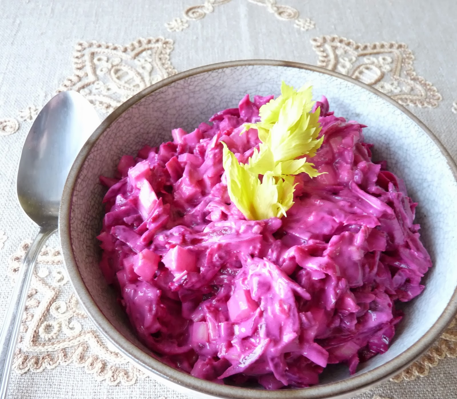 Beets with Yogurt & Garlic